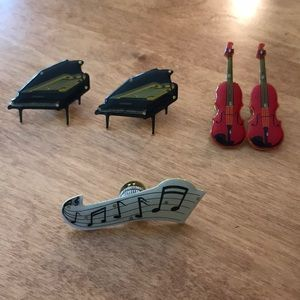 Assorted MUSICAL pins! PIANO, cello/violin, notes